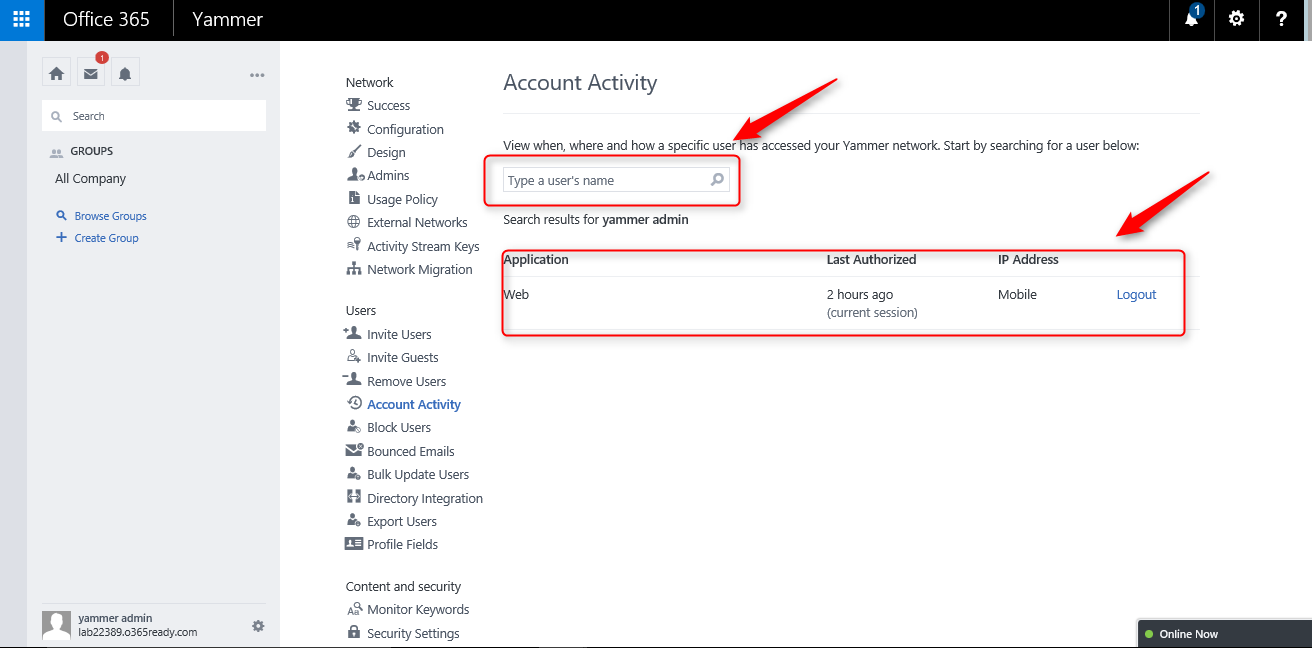 Yammer Account Activity ve Analytics Dashboard (tr-TR ...