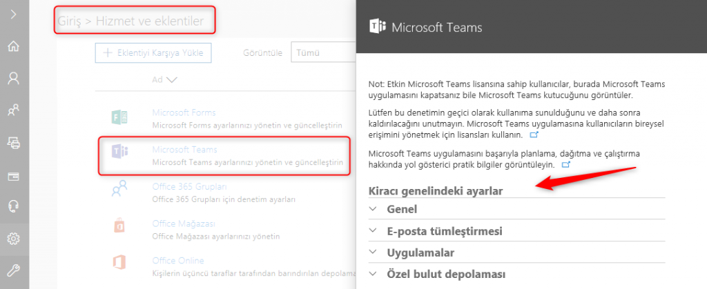 Skype for Business and Teams Admin Center - 1
