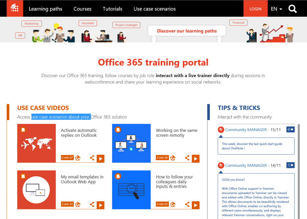 Office 365 Training Portal